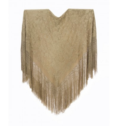 Natural silk hand embroidered antique shawl M.ANT-60