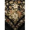 Natural silk hand embroidered shawl G53