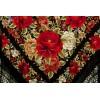 Natural silk hand embroidered shawl G75