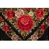 Natural silk hand embroidered shawl G369