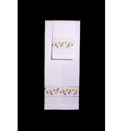 Set di asciugamani da fiori gialli TI270