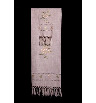Set di asciugamani rustici TI314