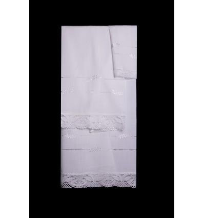 Juego de toallas puntilla TI1931