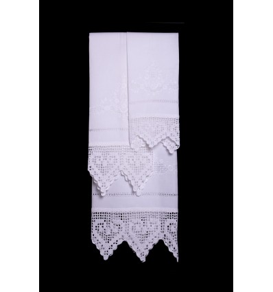 Set di asciugamani fiori ricamati TI8331-1