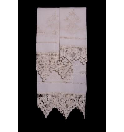 Ensemble de serviettes boucle brodée TI8332-2