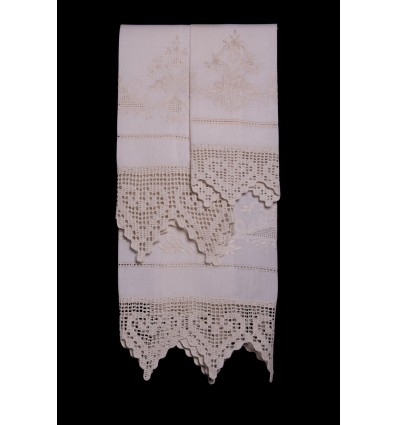 Floral embroidered towel set TI8331-2