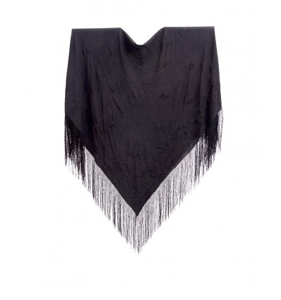 Natural silk hand embroidered antique shawl M.ANT-115