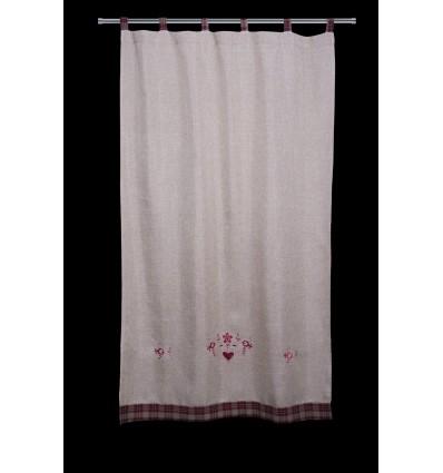 Rustikaler Vorhang 0154