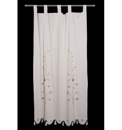 Embroidered leaves curtain CR2143