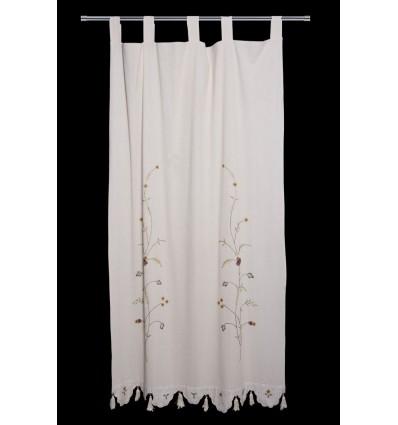 Vorhang bestickte Blätter CR2143