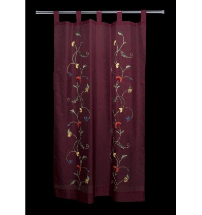 Floral embroidered curtain CR1640G