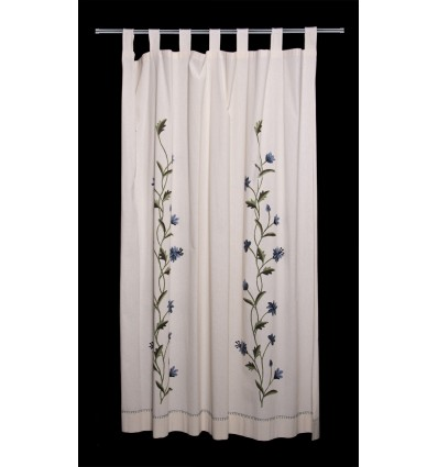 Floral embroidered curtain CR163