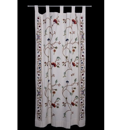 Floral embroidered curtain CR1691