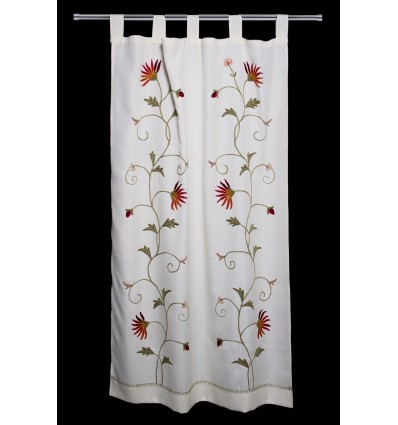 Floral embroidered curtain CR167
