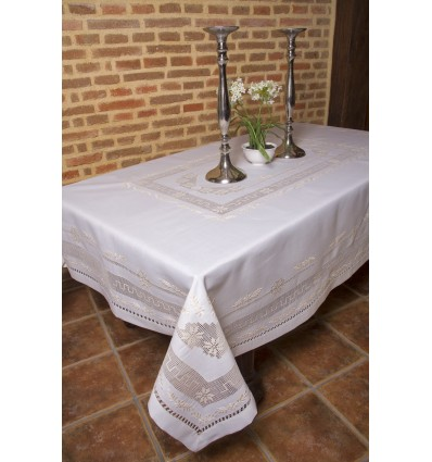 Hand embroidered tablecloth 84