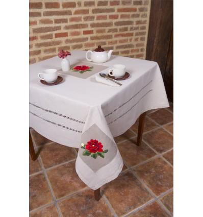 Rosa Tischdecken 91
