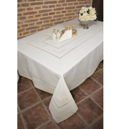 Hand embroidered tablecloth 8937