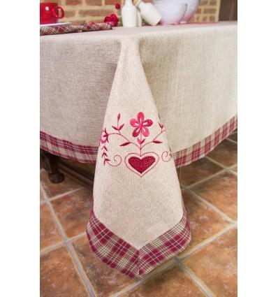 Rustic tablecloth 0154
