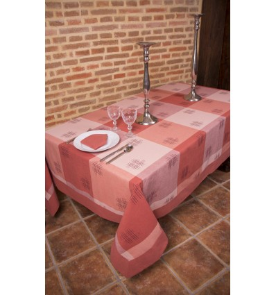 Plaid pattern tablecloth 384