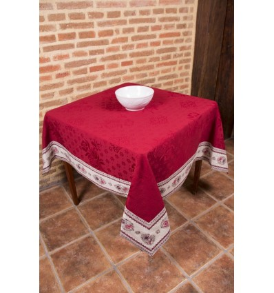 Jacquard tablecloth with grey border 1302