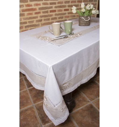 Beige tablecloth 889