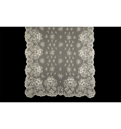 MT102 handbestickte natürliche Seide Decke
