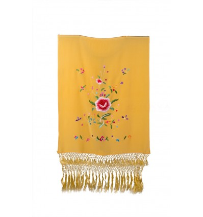 Hand bestickt natürliche Seide Schal H