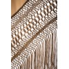 Natural silk hand embroidered shawl G116