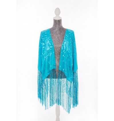 Natural silk hand embroidered jacket CH5