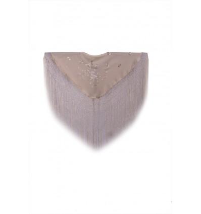 Natural silk hand embroidered shawl N