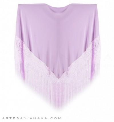 Natural silk plain shawl MDS