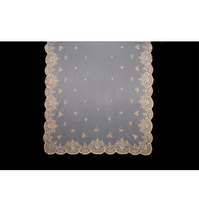 Couverture en soie naturelle brodée à la main MT106