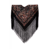 Vieux manteau de soie naturelle brodé M.ANT-21