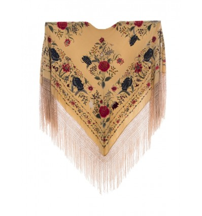 Vecchio mantello di seta naturale ricamato M.ANT-257