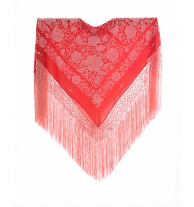 Natural silk hand embroidered shawl G40