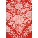 Natural silk hand embroidered shawl G40