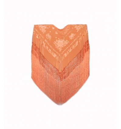 Natural silk hand embroidered shawl MD28