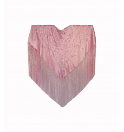 Natural silk hand embroidered shawl MBR