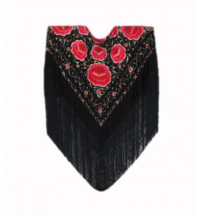 Natural silk hand embroidered antique shawl M.ANT-512