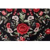 Natural silk hand embroidered shawl G23