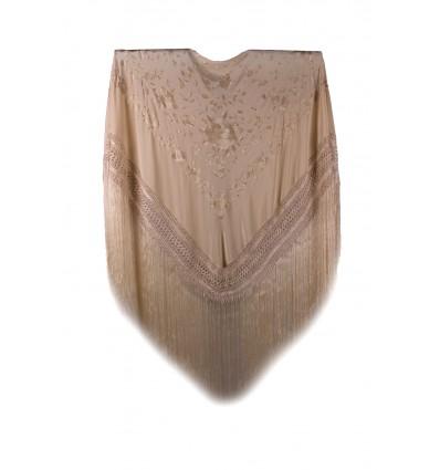 Mantello di seta naturale ricamato a mano G357