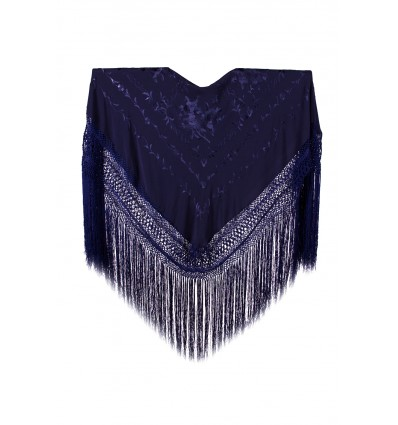 Natural silk hand embroidered shawl MD80