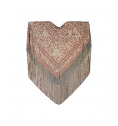Mantón seda natural bordado a mano G386