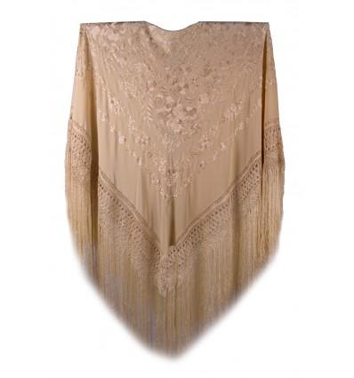 Manteau de soie naturel brodé à la main G85