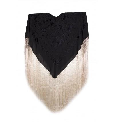 Manteau de soie naturel brodé à la main G285