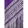 Natural silk hand embroidered shawl G357