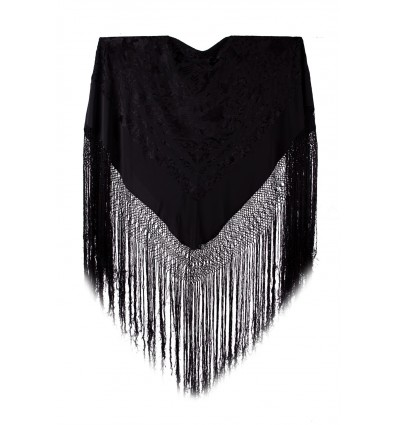 Natural silk hand embroidered shawl FE
