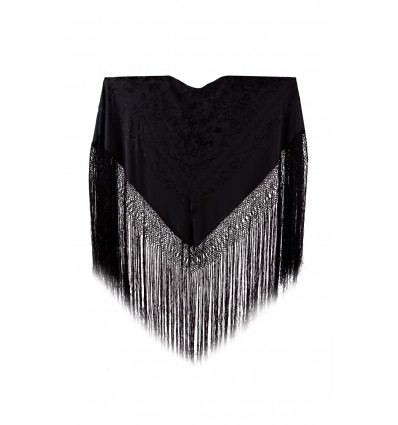 Natural silk hand embroidered shawl D51